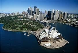 sydney opera house view.